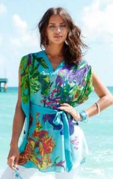 Модные расцветки туник фото (14)