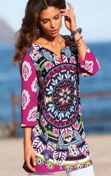 Модные расцветки туник фото (2)