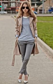 Повседневные образы с узкими брюками, джинсами фото (1)