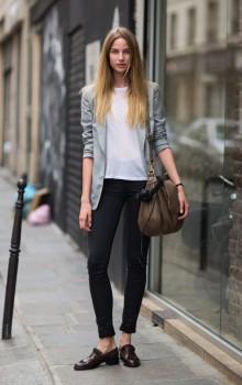 Повседневные образы с узкими брюками, джинсами фото (25)