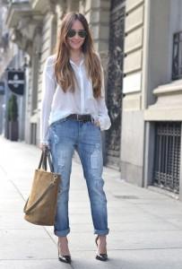 С чем носить джинсы бойфренд (118)