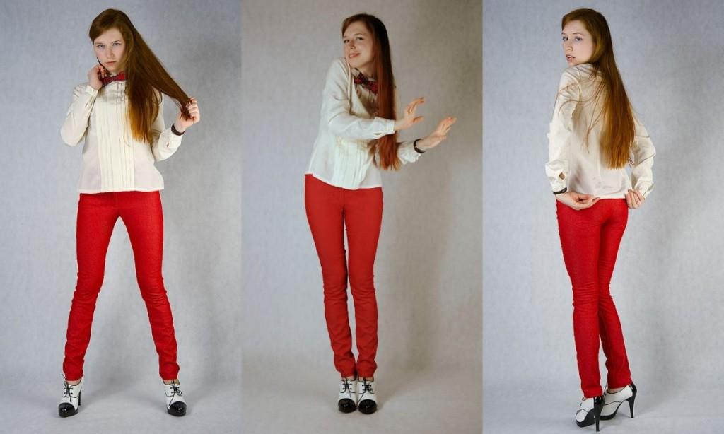 С чем носить узкие женские брюки фото (29)