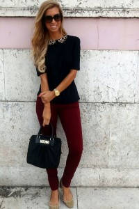 С чем носить узкие женские брюки фото (31)