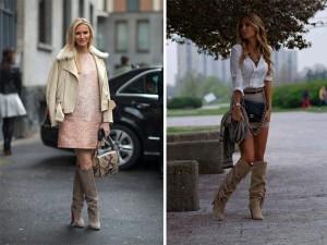 С чем носить замшевые сапоги на каблуке фото (21)