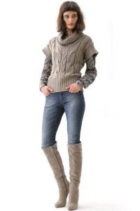 С чем носить замшевые сапоги на каблуке фото  (25)
