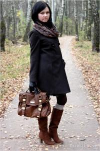 С чем носить замшевые сапоги на каблуке фото  (33)