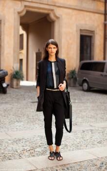 С какой обувью носить узкие брюки фото (7)