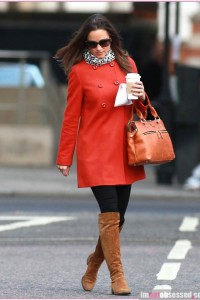 Pippa Middleton Heads for Work