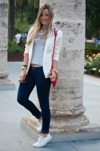 с чем носить белые кеды фото (10)