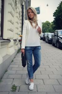 с чем носить белые кеды фото (14)