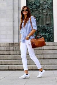 с чем носить белые кеды фото (7)