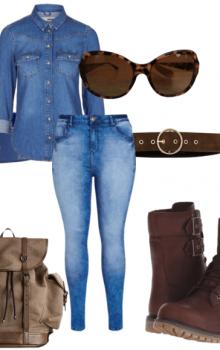 с чем носить бежевые и коричневые ботильоны (1)