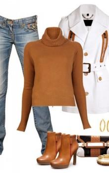 с чем носить бежевые и коричневые ботильоны (31)