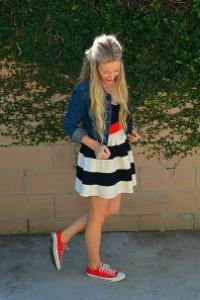 с чем носить красные и голубые кеды фото (23)