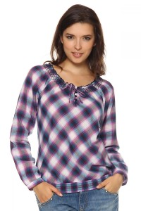 с чем носить женскую рубашку в клетку (4)