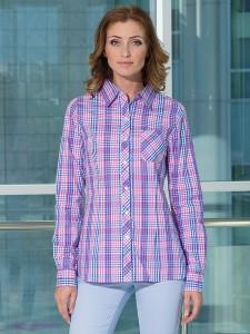 с чем носить женскую рубашку в клетку (45)