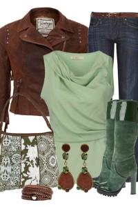 эеленые и бордовые сапоги с чем носить фото (4)