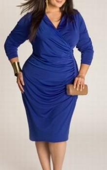 Модные новогодние платья для полных на 2017 год фото (3)