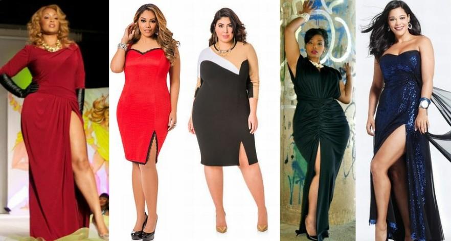 Модные новогодние платья для полных на 2017 год фото (7)