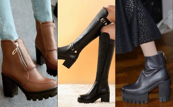 Модные женские сапоги, ботильоны осень-зима 2016-2017 фото (4)