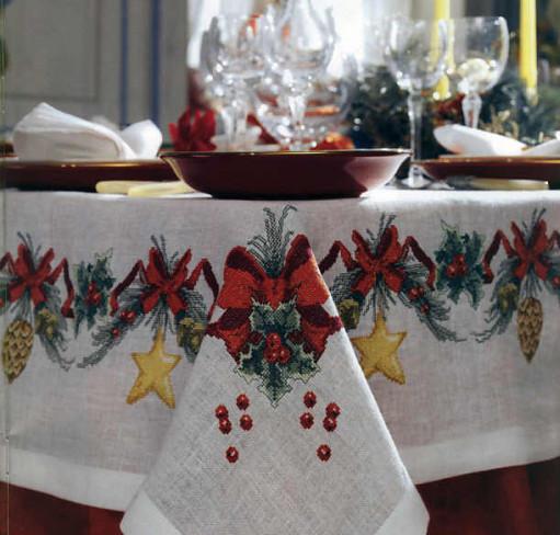 Скатерть на рождество своими руками