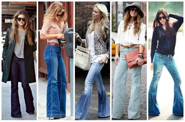 джинсы клеш фото (1)