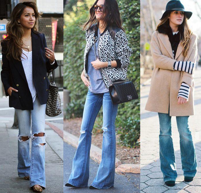 джинсы клеш фото (2)