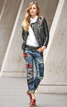 джинсы с латками фото (10)