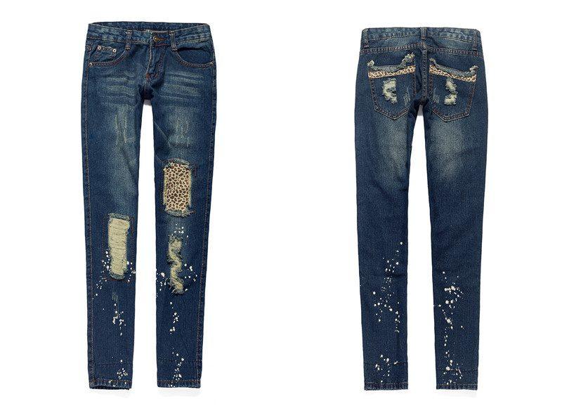 джинсы с латками фото (3)