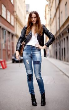 джинсы с латками фото (7)