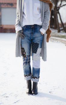 джинсы с латками фото (8)