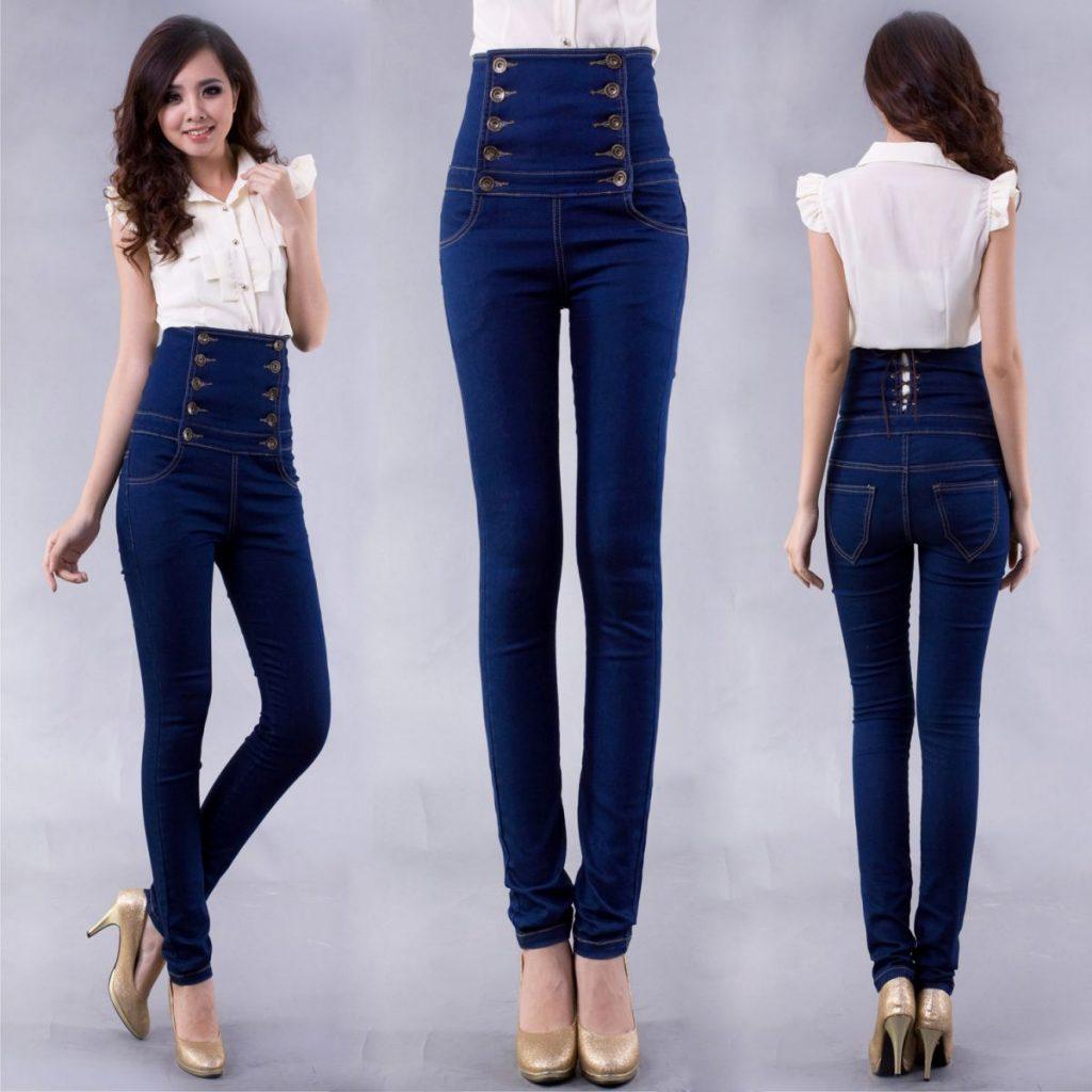 джинсы с высокой талией фото (14)