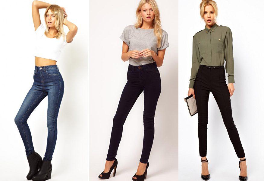 джинсы с высокой талией фото (15)
