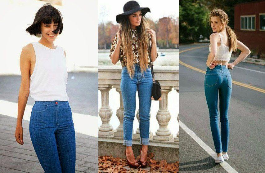 джинсы с высокой талией фото (4)