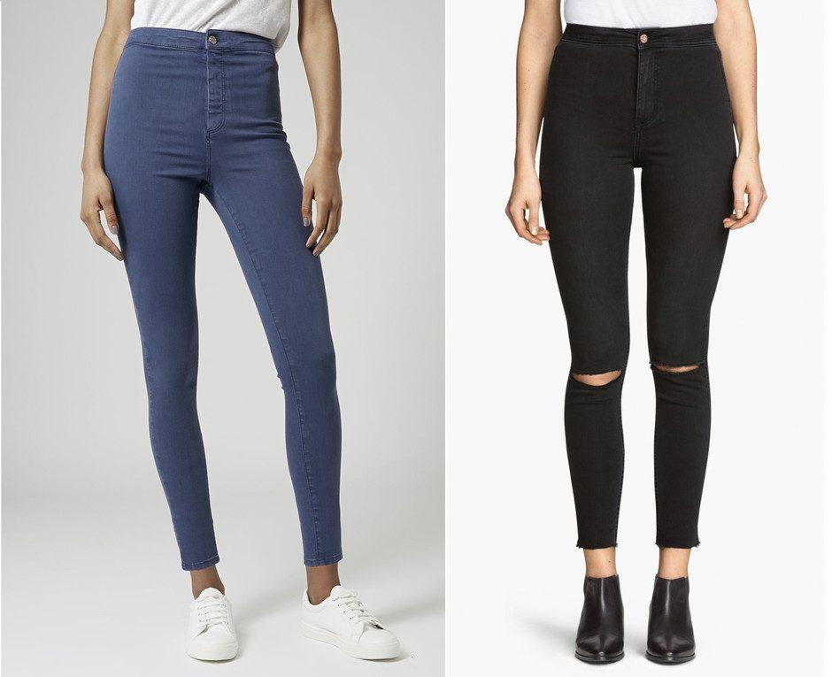 джинсы с высокой талией фото (5)