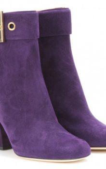 Фиолетовые ботильоны