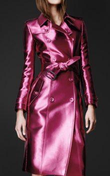 модные пальто из блестящей ткани фото (12)