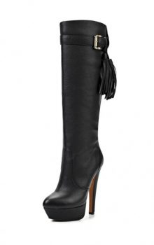модные сапоги на каблуке фото (10)