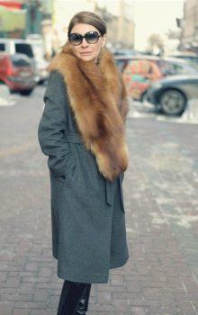 пальто с меховой гаржеткой фото (1)