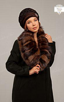 пальто с меховой гаржеткой фото (10)