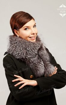 пальто с меховой гаржеткой фото (11)
