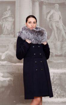 пальто с меховой гаржеткой фото (2)