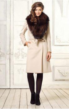 пальто с меховой гаржеткой фото (5)