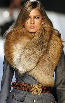 пальто с меховой гаржеткой фото (6)