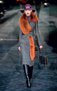 пальто с меховой гаржеткой фото (8)