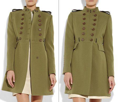 пальто в стиле милитари фото (2)