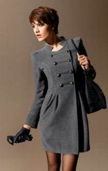 пальто в стиле милитари фото (3)