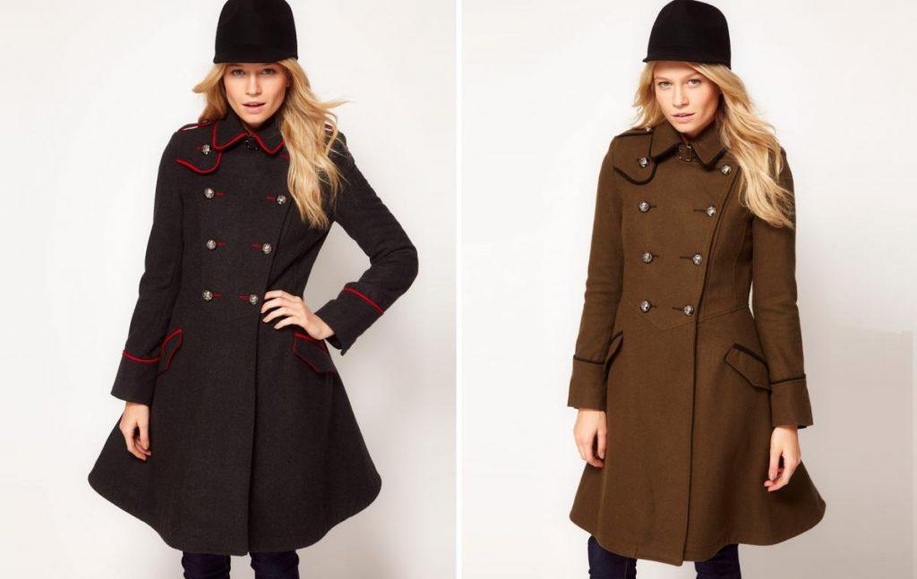пальто в стиле милитари фото (6)