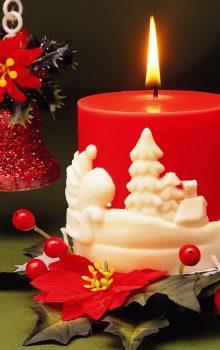 свечи на новогоднем столе 2017 фото (4)