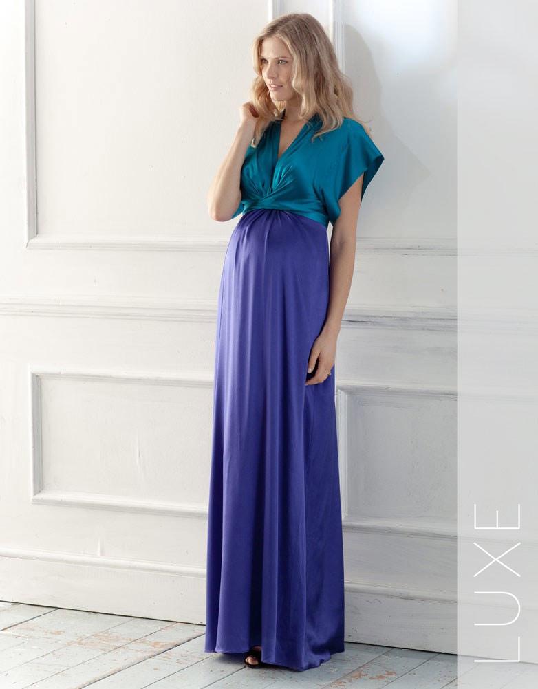 Фото фасона вечернего платья для беременных